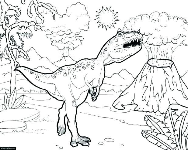 618x494 Dinosour Coloring Pages Coloring Pages World T Printable Coloring