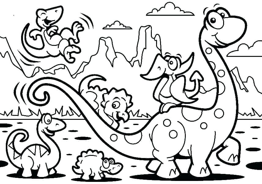 856x602 Printable Coloring Pages Dinosaur Coloring Pages Free Printable