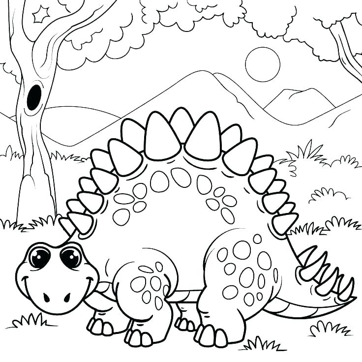 736x736 Free Good Dinosaur Coloring Pages