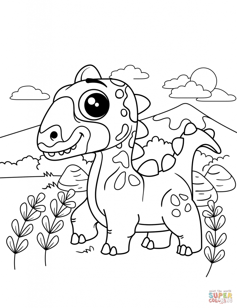 791x1024 Dinosaur Coloring Pages Pdf