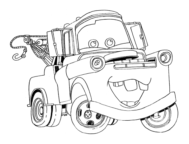 607x463 Free Printable Disney Cars Coloring Pages