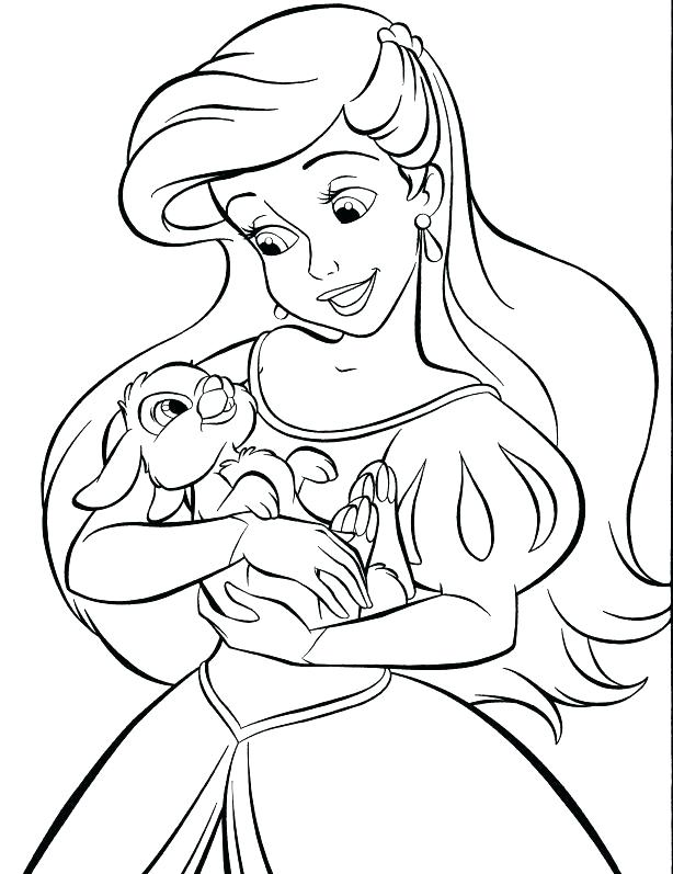 614x797 Easter Princess Coloring Pages