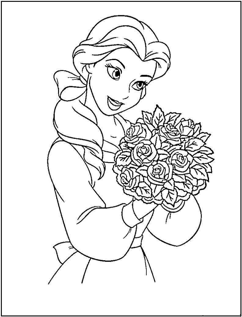 792x1040 Disney Princess Coloring Pages