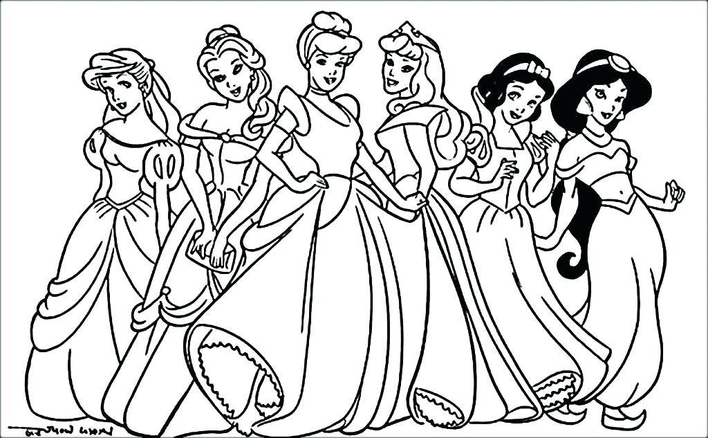 1024x633 Princess Coloring Pages Frozen Princes Coloring Pages Princess