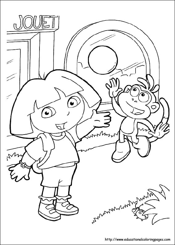 567x794 Dora Coloring Pages Free For Kids