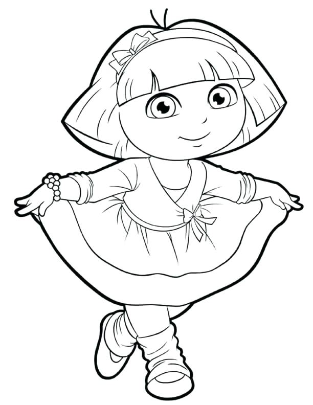 612x792 Dora Free Coloring Pages Explorer Pictures To Print Free