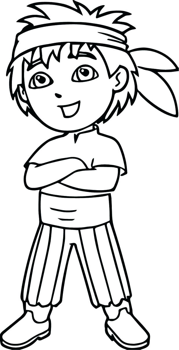 618x1209 Free Dora Coloring Pages Free Coloring Pages Kid The Explorer Man
