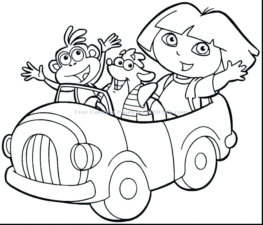 878x750 Free Dora Coloring Pages Luxury Printable Coloring Pages Fee Free