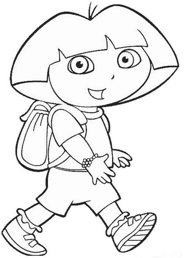 607x850 Free Printable Dora The Explorer Coloring Pages For Kids