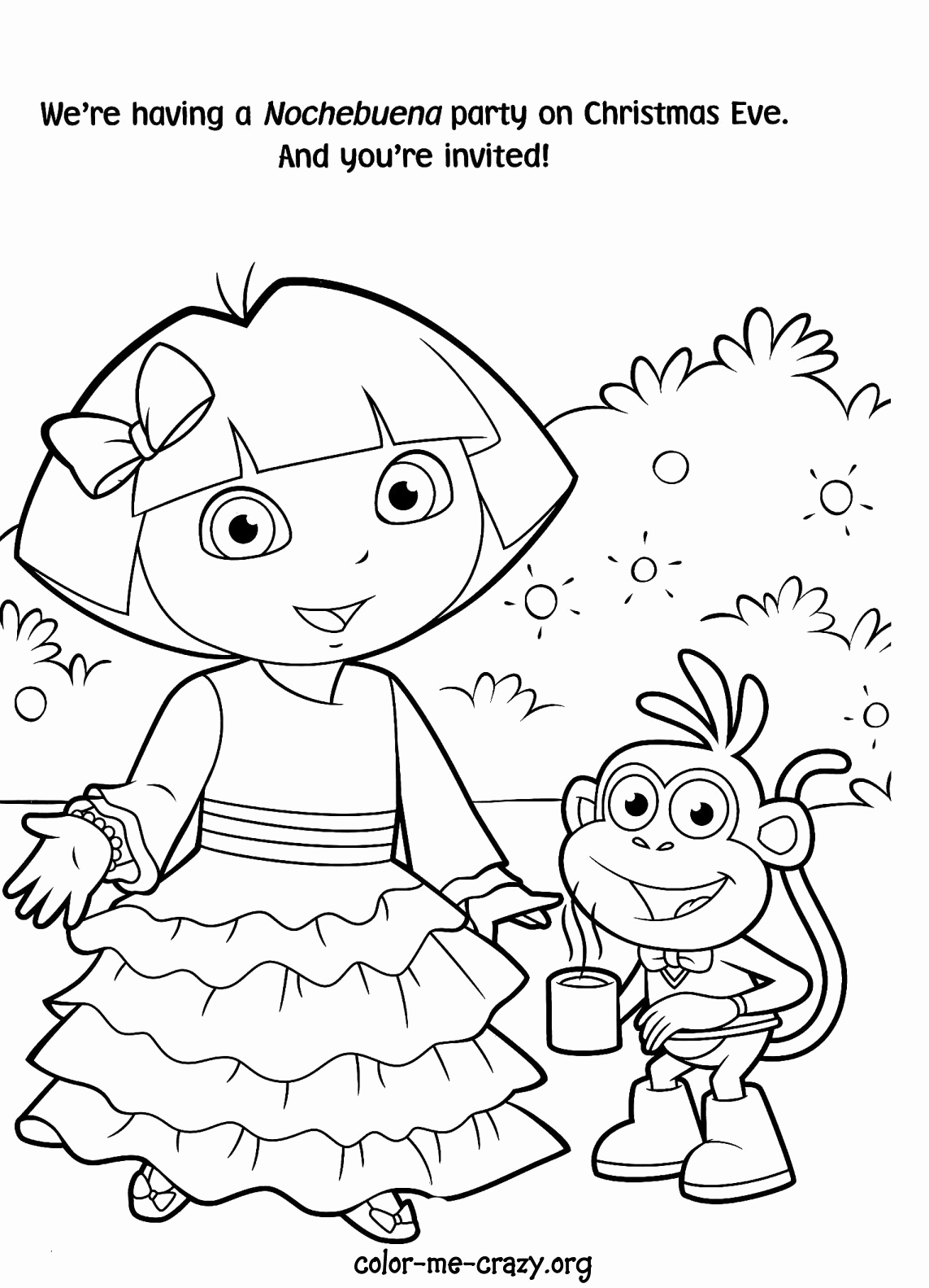 1143x1583 Staggering Free Printable Dora Coloring Pages The Explorer