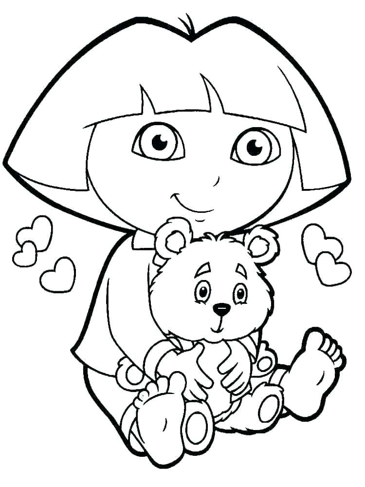 750x1000 Dora Coloring Games