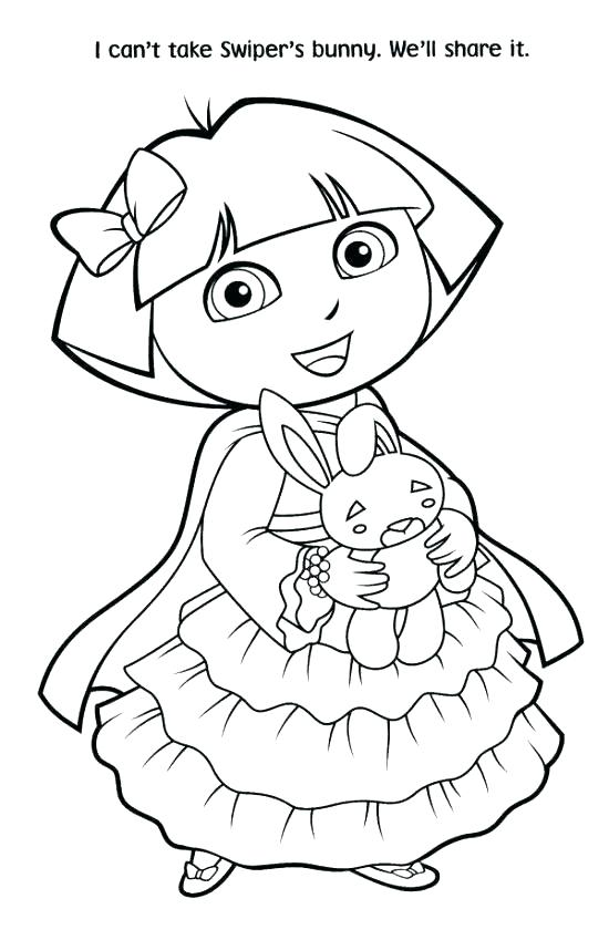 550x849 Dora Coloring Pages Free