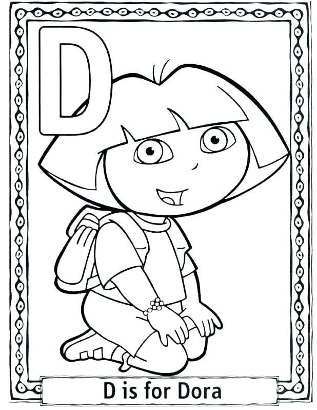 618x798 Free Dora Coloring Pages