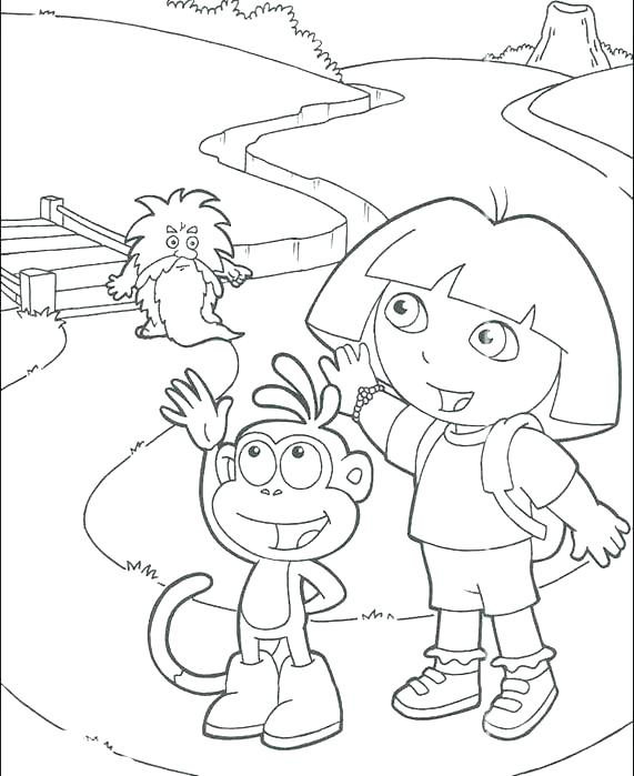 571x699 Dora Coloring Pages Free Printable Coloring Pages Fancy Printable