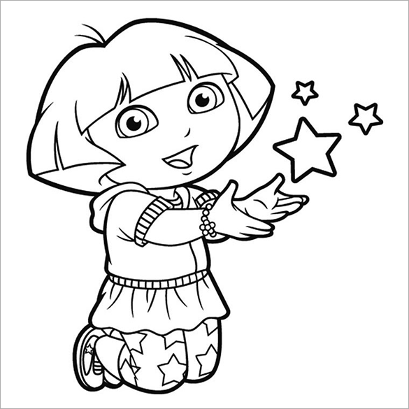 585x585 Dora Coloring Pages Printable Discover