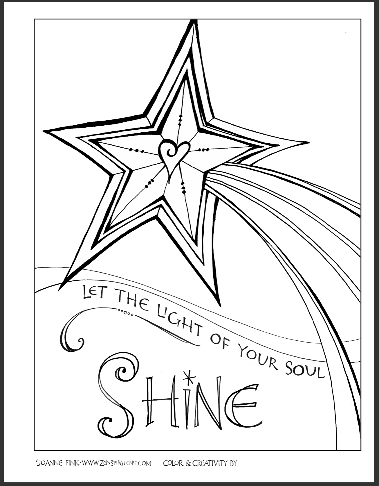 1306x1672 Free Downloadable Coloring Page On This Week's Zenspirations Blog