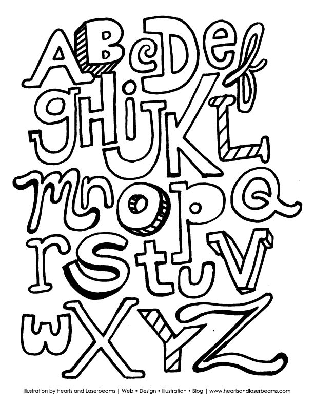 612x792 The Abc Letters Free Downloadable Coloring Book Page