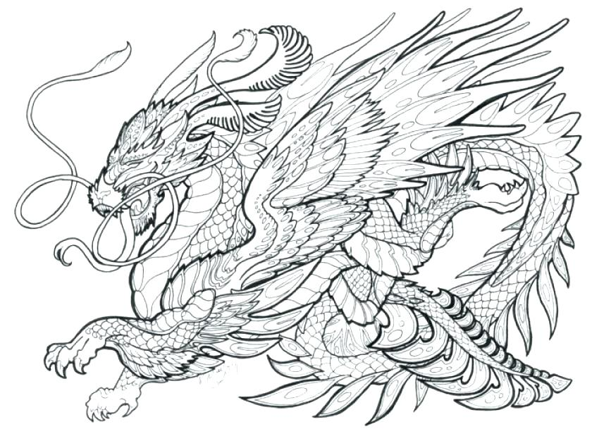 Free Dragon Coloring Pages At Getdrawings Com Free For