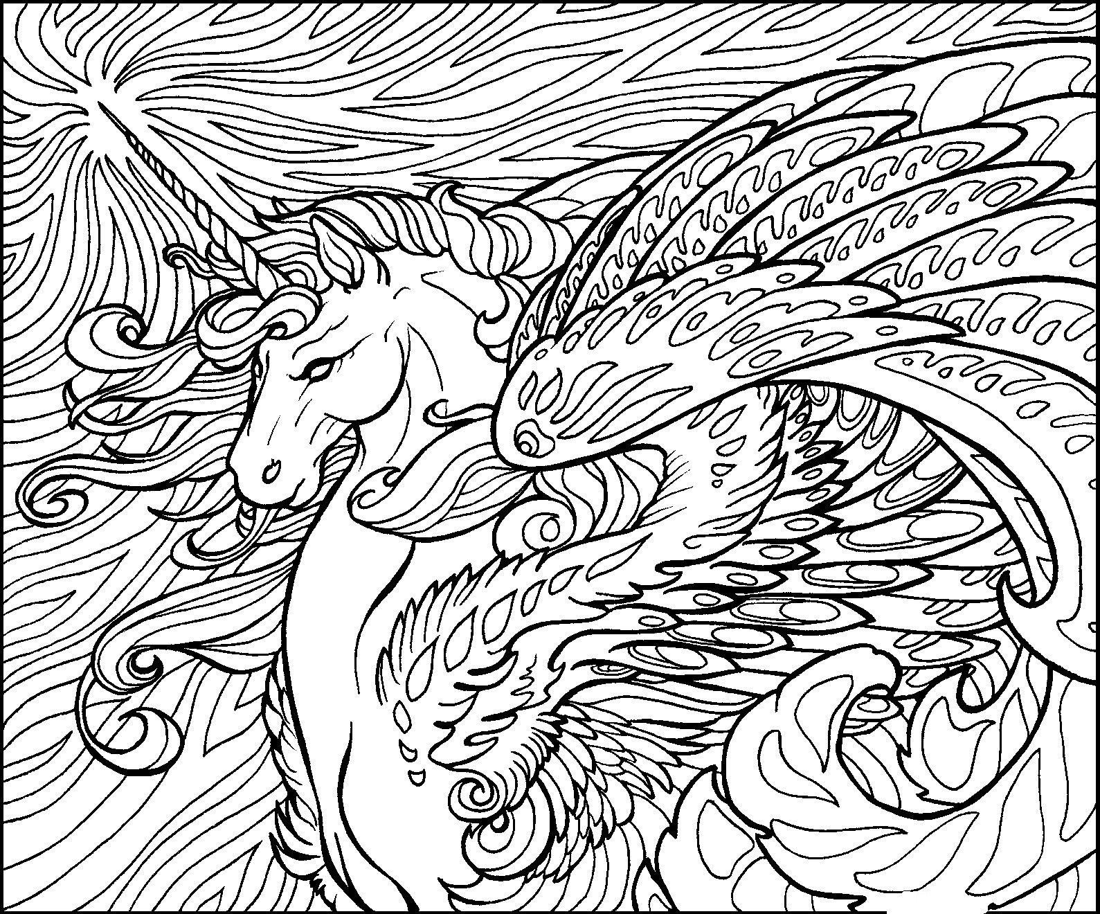 Free Dragon Coloring Pages For Adults