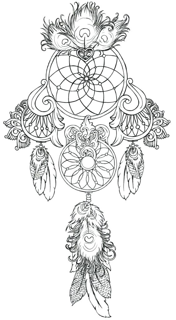 565x1024 Dream Catcher Coloring Pages Free Adult Coloring Page Dream