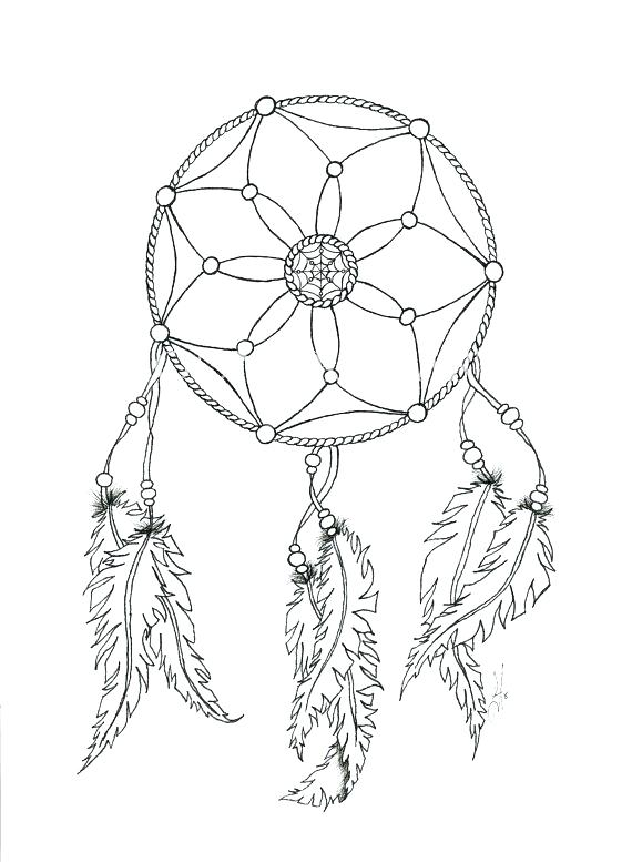 570x777 Dreamcatcher Coloring Pages Printable Heart Dream Catcher Page