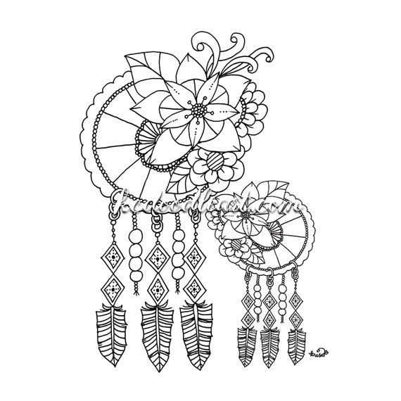 570x570 Dreamcatcher Printable Coloring Pages