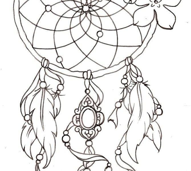 670x600 Excellent Ideas Dream Catcher Coloring Pages To Download And Print