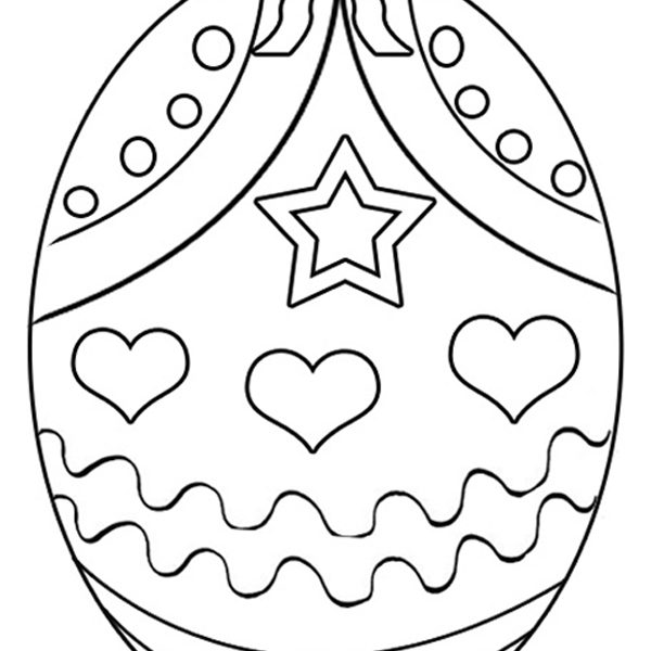 600x600 Easter Egg Colouring Page Coloring Page