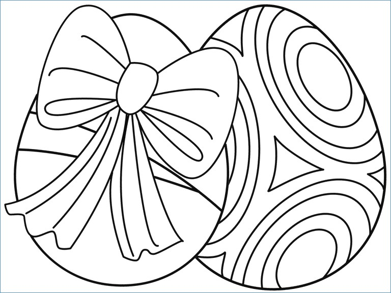 768x576 Easy Easter Egg Coloring Page For Preschool