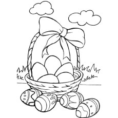 230x230 Top Free Printable Easter Basket Coloring Pages Online