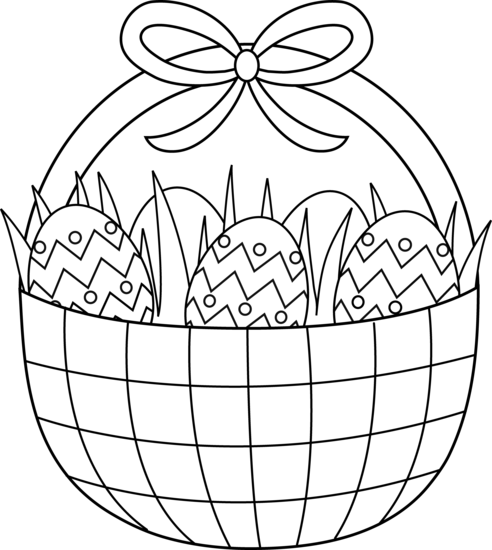 492x550 Easter Basket Coloring Pages