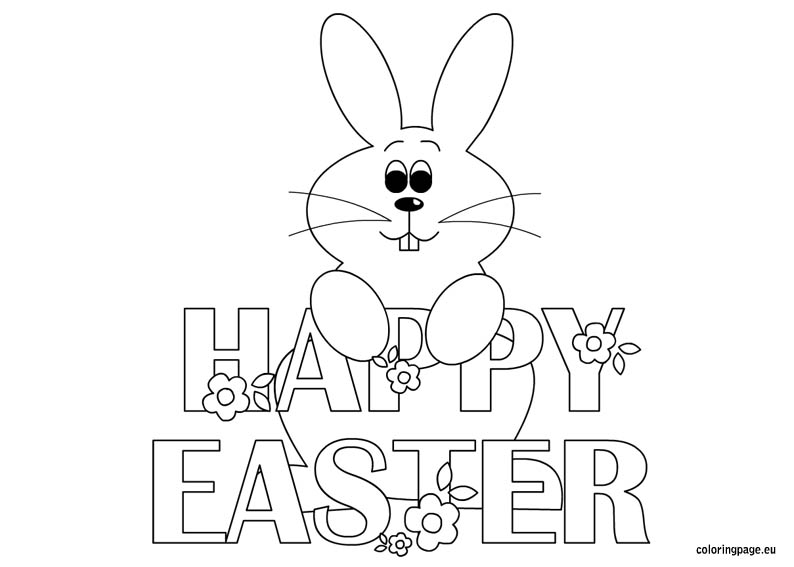 794x567 Happy Easter Bunny Coloring Pages