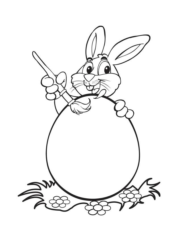 640x828 Easter Bunny Coloring Pages
