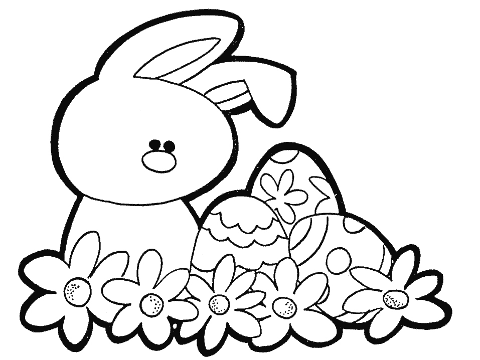 957x718 Easter Bunny Coloring Pages North Texas Kids