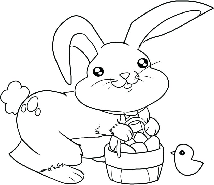 837x726 Easter Bunny Coloring Pages Printable