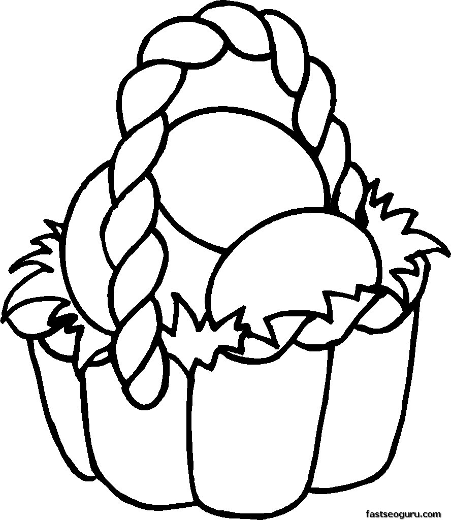 888x1024 Easter Coloring Pages Free Printable Image
