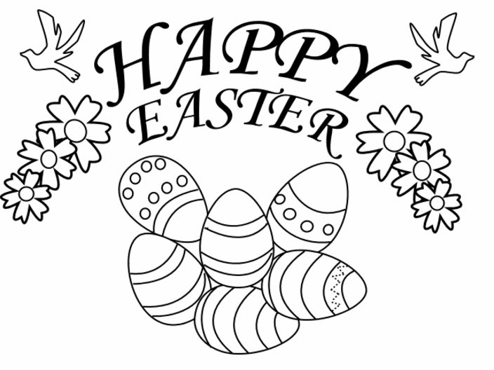 704x528 Free Printable Easter Coloring Sheets