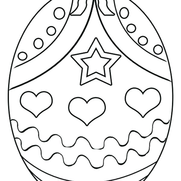600x600 Easter Egg Coloring Page Egg Basket Coloring Pages Easter Egg