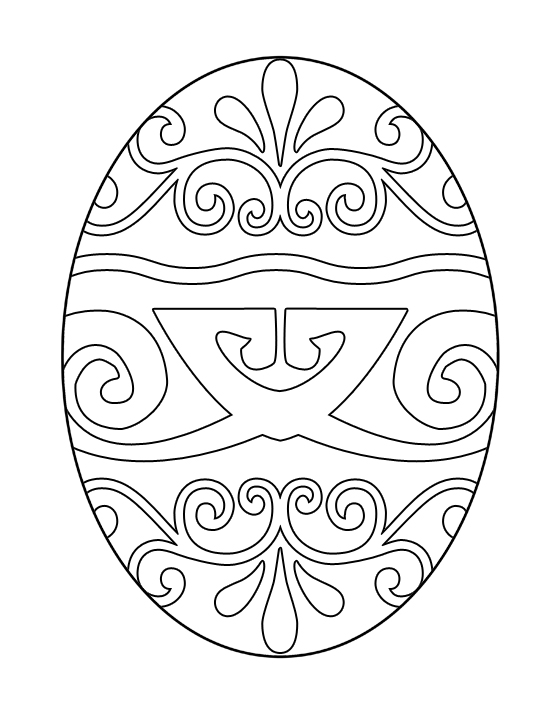 550x712 Free Printable Easter Egg Coloring Pages For Kids Good
