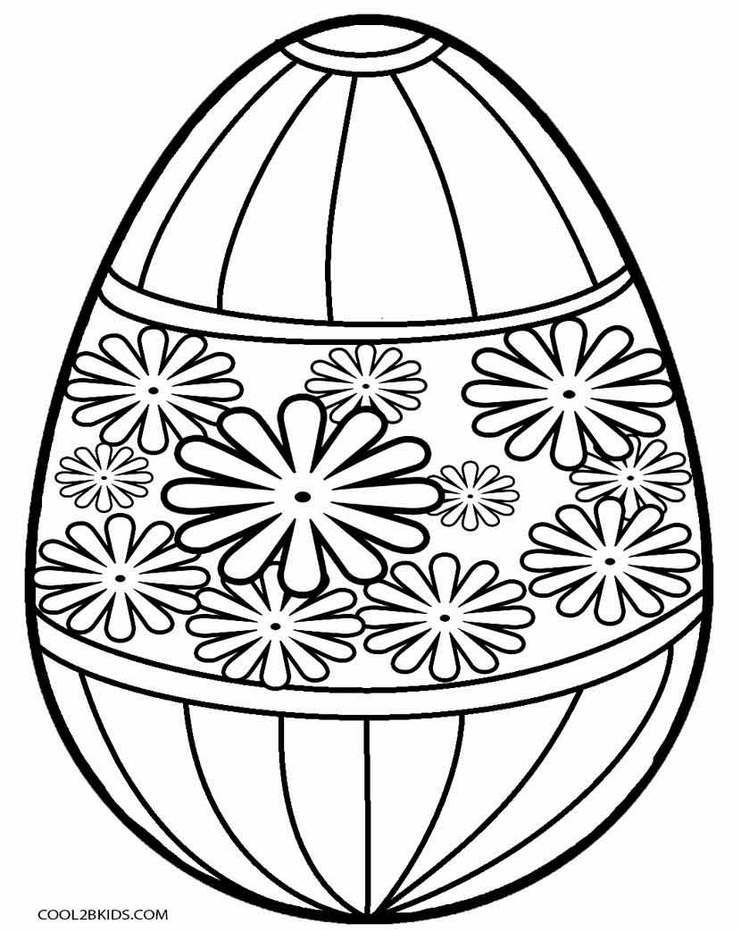 830x1043 Printable Easter Egg Coloring Pages For Kids