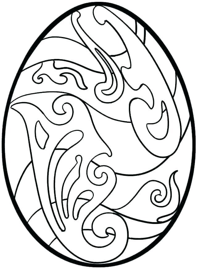 642x872 Easter Egg Printable Coloring Sheets