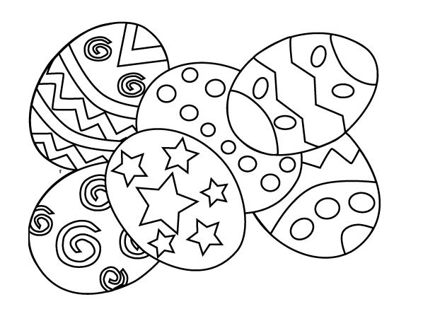 598x454 Free Printable Easter Eggs Coloring Pages Free Printable Easter