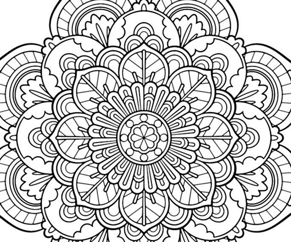 600x500 Free Adult Coloring Simple Adult Coloring Pages