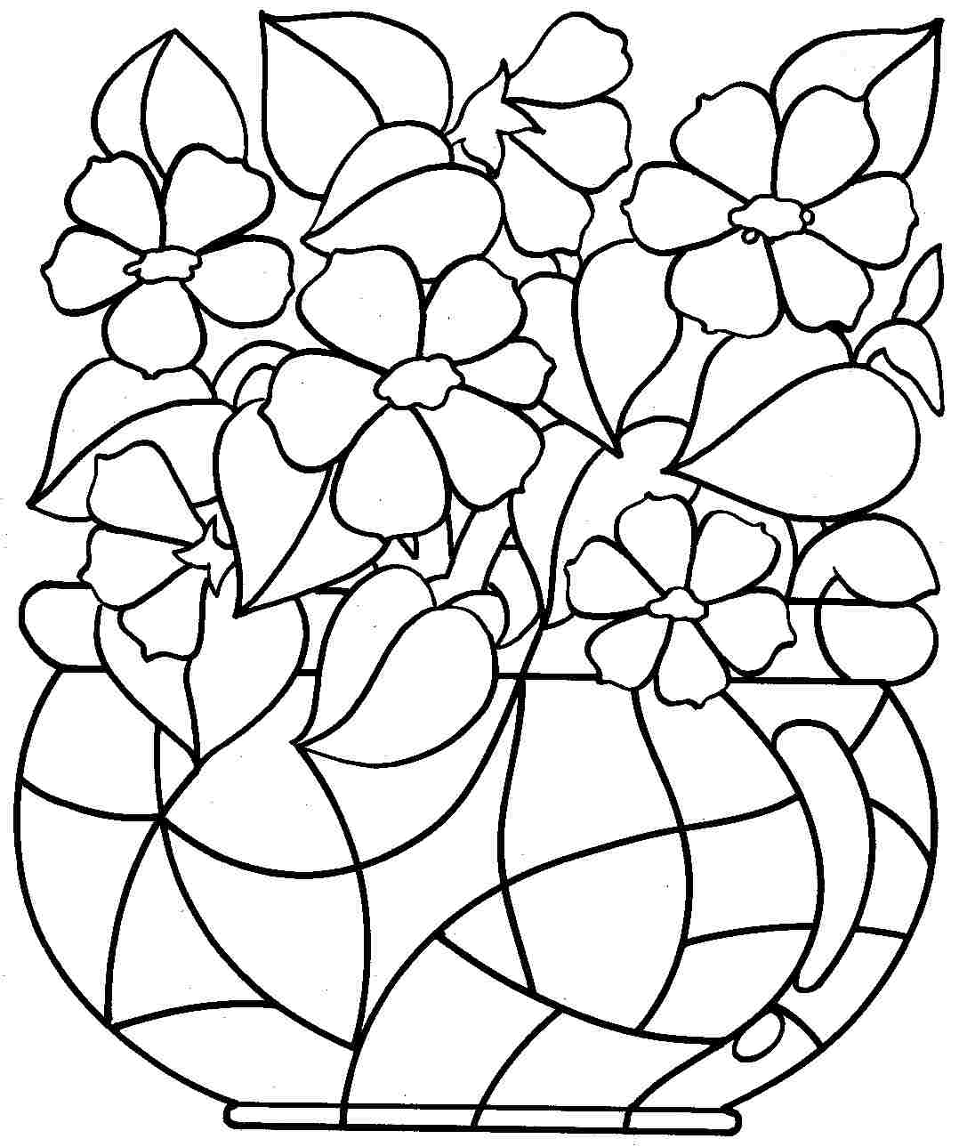 1078x1289 Happy Colour Pages Of Flowers Free Coloring