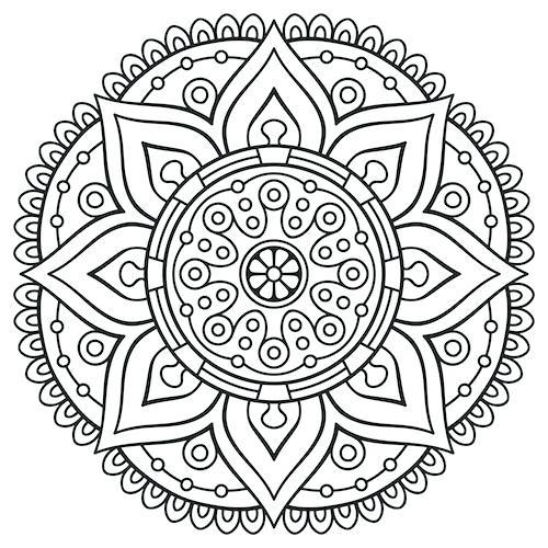 500x500 Mandala Coloring Page Mandala Coloring Pages Free Printable