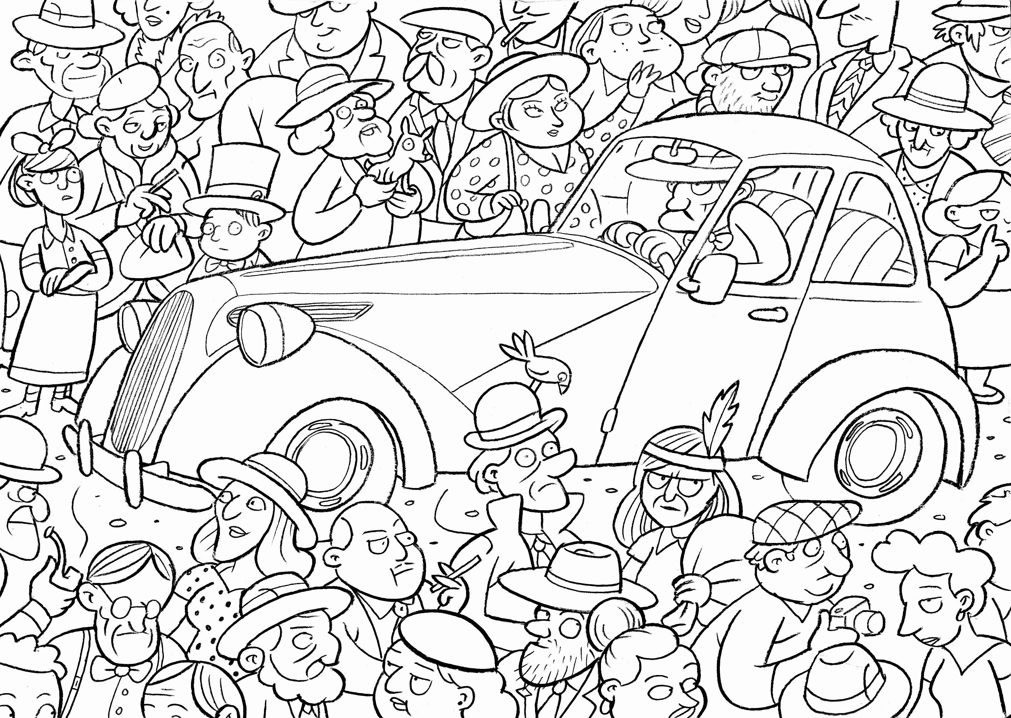 3462x2457 Awesome Free Easy Coloring Pages Printable