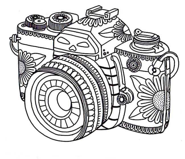650x559 Printable Adult Coloring Pages Camera