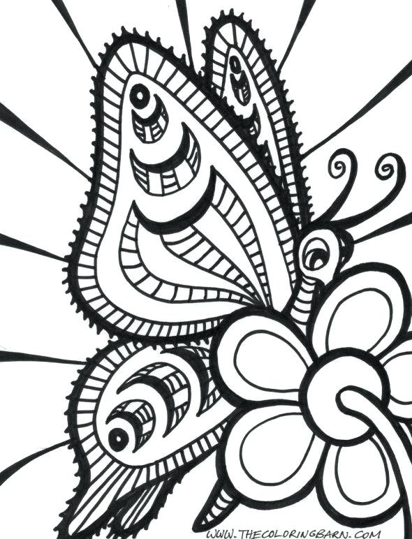 590x772 Butterfly Coloring Pages Inspirational Easy Coloring Pages