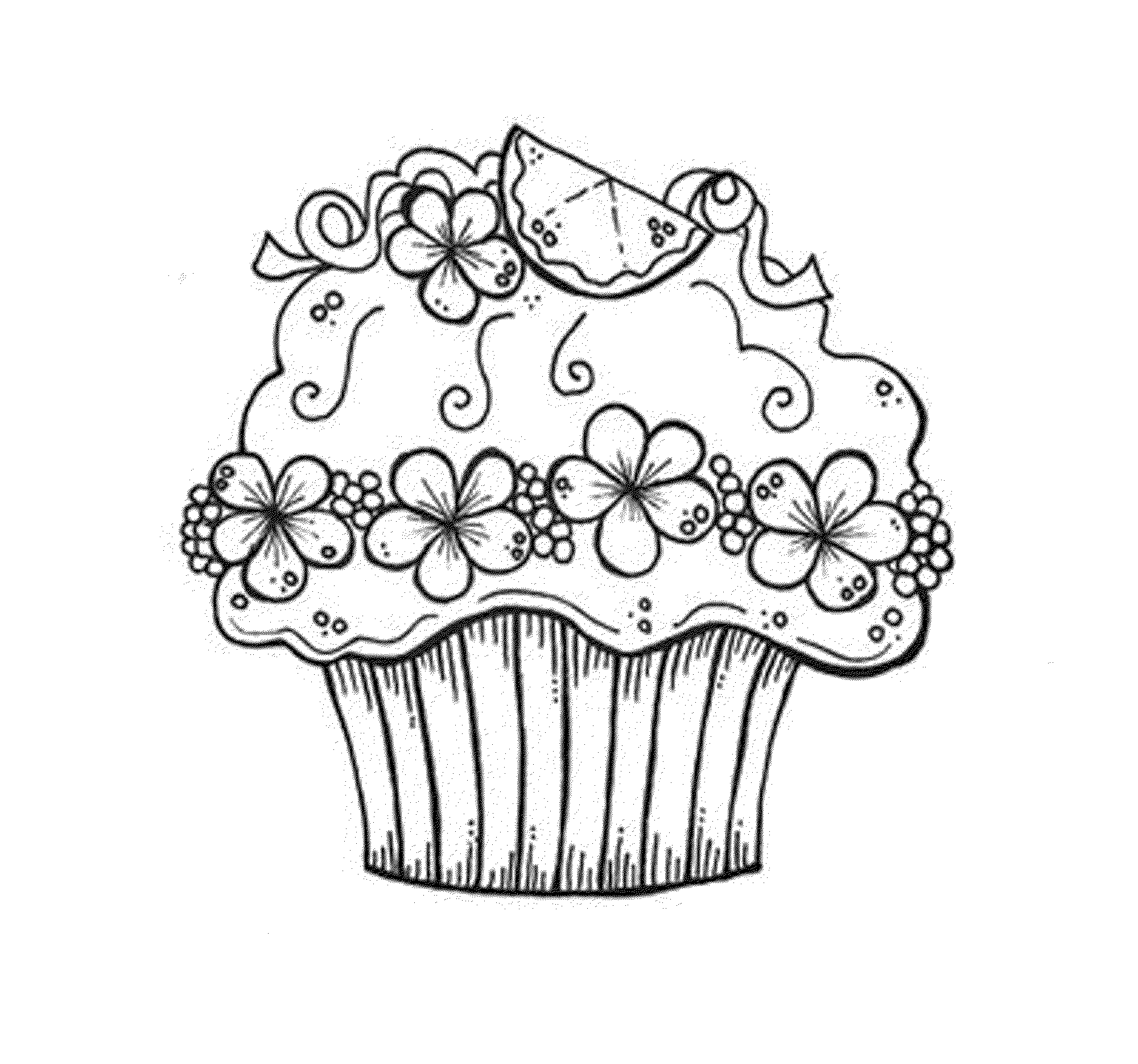 2000x1870 Coloring Pages Cupcake Printables Of Cupcakes Printable Kids Easy