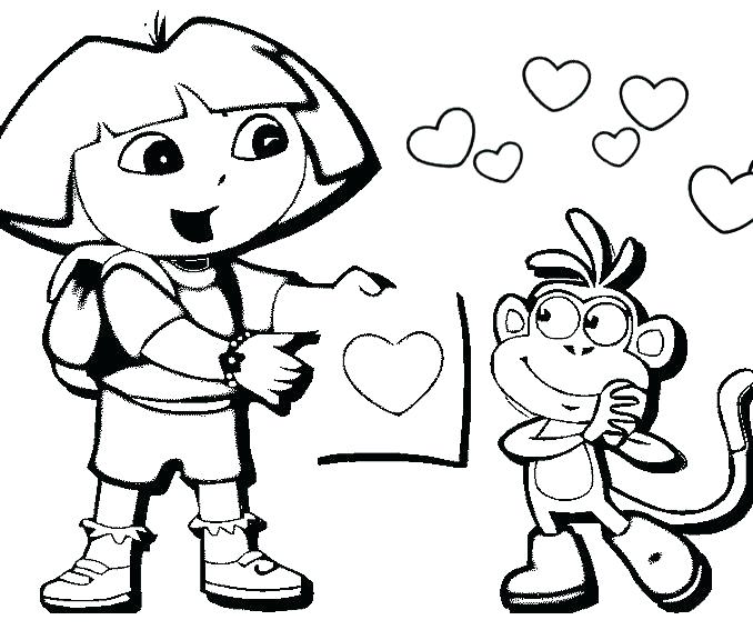 678x567 Easy Coloring Pages For Kids Hello Kitty Pictures To Color Free